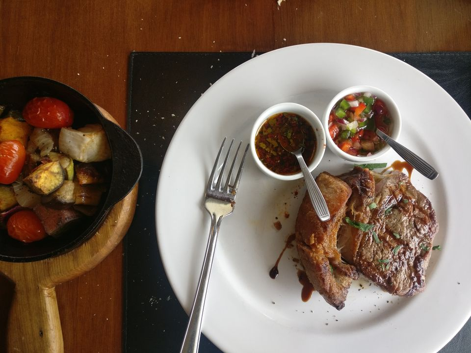 Argentinian Beef Steak at Christopher Food and Grill