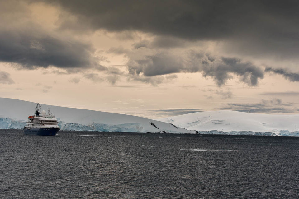 M/V Sea Spirit in Antarctic waters