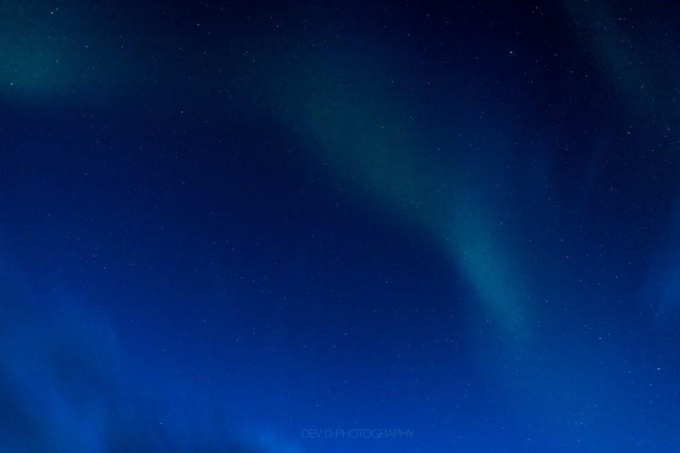 Faint sign of the auroras